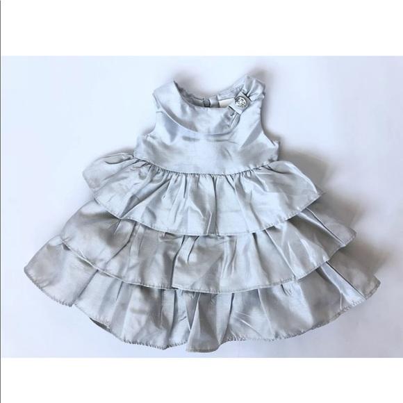 NWT Gymboree Girls/' Blue Green 6-12 Months /& White Striped Maxi Dress